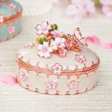 <花衣 ピンク>  宝石箱 ジュエリーボックス