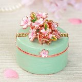 <初桜 グリーン 小さな折鶴に願いを込めて>  宝石箱 ジュエリーボックス