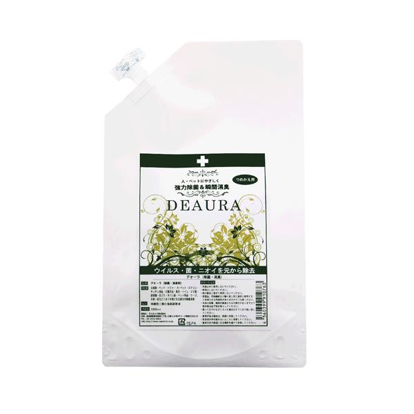 アイテムポストで買える「【DEAURA】デオーラ除菌・消臭スプレー 詰め替えパック1000ml」の画像です。価格は2,757円になります。