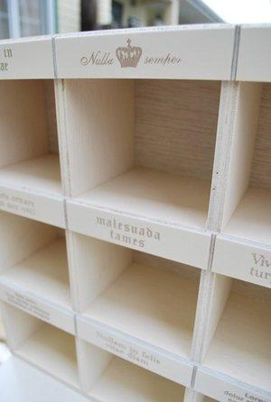 画像3: 仕切り棚 ホワイト アンティーク調のホワイトカラーが明るい、便利な仕切り棚