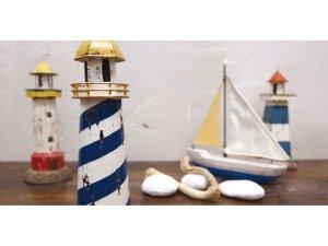 画像2: ブリキオブジェ・灯台G