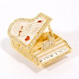 < グランドピアノB (ホワイト) > 宝石箱 ジュエリーボックス