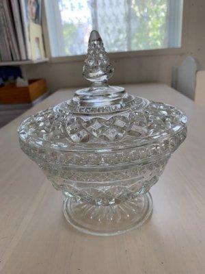 画像1: 【アンティーク品】 ビンテージ ガラス製ボンボンディッシュI