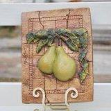 【10%OFF】インテリアプレート(Green pears)