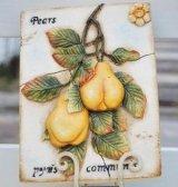 【10%OFF】インテリアプレート(Pears)